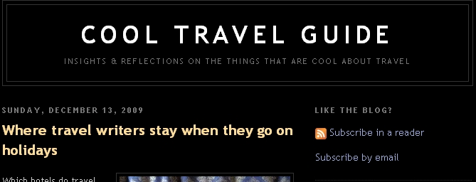 Cool travel guide