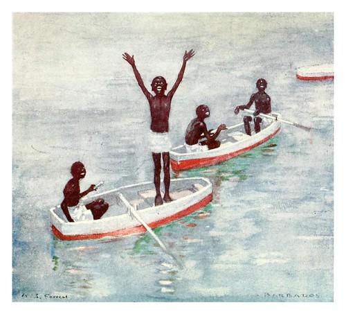 010-Niños buceadores de Barbados-The West Indies 1905- Ilustrations Archibald Stevenson Forrest