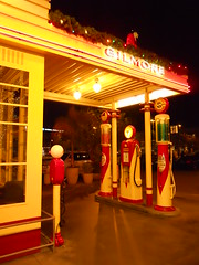 once a real gas station (Benjamin Page) Tags: life california city people urban sculpture food usa signs hot art history strange modern buildings design living losangeles insane theater humanity metro random eating culture boring odd hollywood pasadena oddity interiordesign sights exciting sites weired benjaminpage