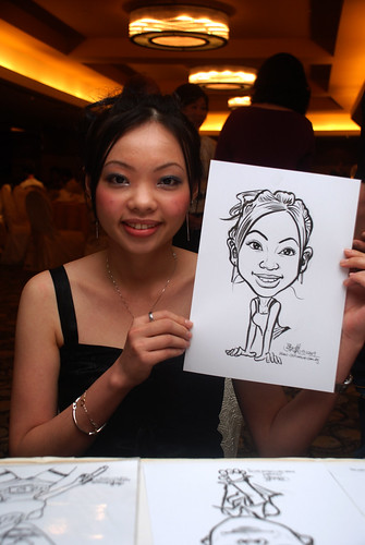 Caricature live sketching for Hock Cheong Printing Pte Ltd D&D 2009 - 6