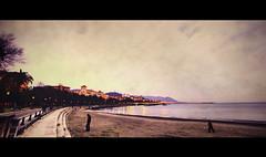 Salerno - loneliness at sunset (t4tO_) Tags: sunset sea people italy texture beach walking italia loneliness walk feeling seafront hdr salerno costiera canon1022mm photomatix texturized tonemapped tonemapping canon50d theauthorsplaza antoniogiudice