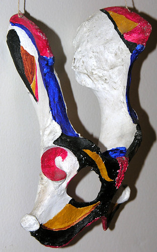 BONELUST - Painted Deer Hip Bone: Gift from Late 1980s 2