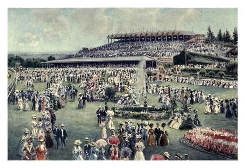 007-Hipodromo de Flemington el dia de la Copa Melbourne-Australia (1910)-Percy F. Spence