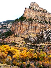 WY-US16-10sleepCanyon long vrt 2 10-06 (lauramdellinger) Tags: cliff canyon wyoming bighornmountains us16 tensleepcanyon