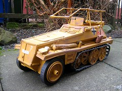 Rommel's Half-track Model Made From Cardboard And Recycled Materials - 2 of 5 (Kelvin64) Tags: world red two people rescue game art cars car sex truck germany painting fire pc video cool corgi artwork model san war tank sony hitler engine andreas joystick vehicles international anderson lorry 1940s german ps1 churchill vehicle british trucks thunderbirds ps2 joypad emergency gta adolf console playstation winston tender diorama erwin raf matchbox gerry rommel 40s brigade halftrack dinky savanna germans wwll lorries ps3