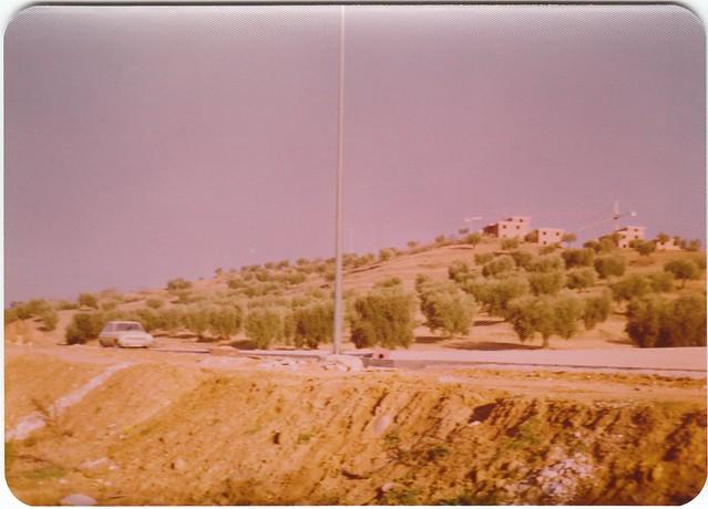 Construcción de la Ronda de Buenavista en los años 70. Fotografía de Ricardo Sánchez Candelas