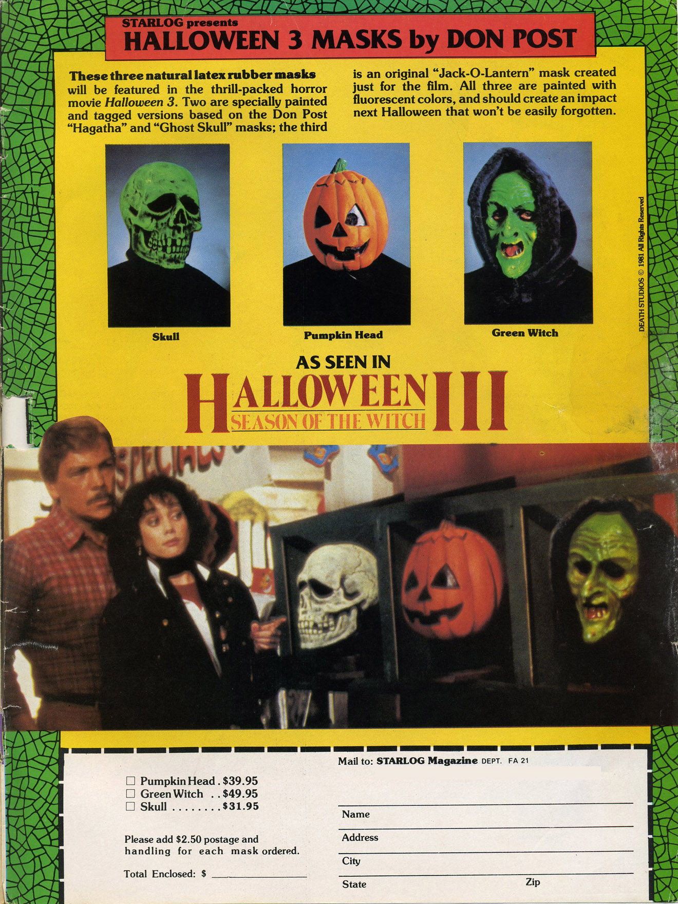 Halloween Mask Madness, Day 9: Silver Shamrock! | Branded in the 80s