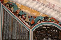 Krewerd, Groningen, church, organ, detail (groenling) Tags: wood church netherlands animal nederland carving organ nl delfzijl groningen dier kerk hout woodcarving orgel grotesque ajour grotesk krewerd openwork houtsnijwerk snijwerk romanogothic romanogotiek