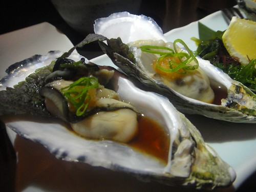South Australian Coffin Bay oysters served natural and tempura batteredJapanese Izakaya-Balaclava