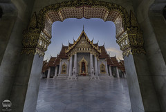 The Marble Temple ( Wat Benchamabophit ) (kenneth chin) Tags: nikon d810 nikkor 1424f28g bangkok thailand city temple benchamabophit dusit marble asia attraction yahoo google