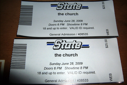 20090628 - The Church at State Theatre - 1 - GEDC0178 - ticket stubs