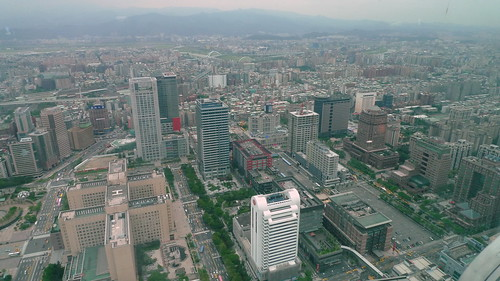 View from public rest area at 59F in Taipei 101