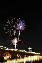 DSC_0122 (georgerocheleau) Tags: arizona reflection water night fireworks fourthofjuly tempe tempetownlake