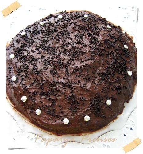 muz aromalı çikolatalı pasta