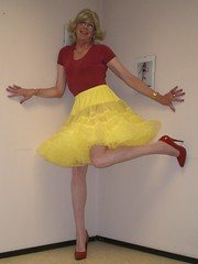 Yellow petticoat (sabine57) Tags: drag tv cd crossdressing tgirl tranny transvestite crossdresser crossdress transvestism