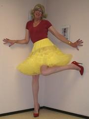 Yellow petticoat (sabine57) Tags: drag tv cd crossdressing tgirl tranny transvestite crossdresser crossdress transvestism