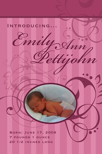 Emily's Birth Announcment