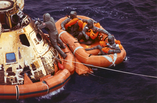 Apollo 11 in the water