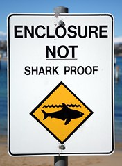the many signs of Mosman Council - beware of helicopter sharks rising above fences (jani.na) Tags: beach water sign gardens danger warning fun bay shark dangerous place beware sydney australia helicopter sharks proof clifton chowder enclosure mosman mosmancouncil notsharkproof enclosurenotsharkproof helicoptershark bewaresharks