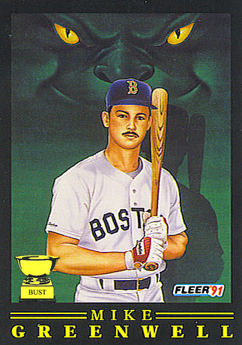 Baseball Card Bust Mike Greenwell 1991 Fleer Pro Visions