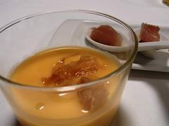 Aperitivo de Crema de Verduras y Bonito