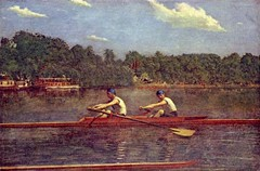 The Biglen Brothers Racing, Thomas Eakin 1873 (The Happy Rower) Tags: max art vintage team antique 4 shell quad row crew single cox pairs rowing regatta schmidt eight sweep rower sculls schuylkill rowers oarsman cassatt sculling eights oarsmen eakin bost coxawin thehappyroweryahoocom