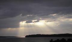 Heaven's spotlights (ja cour) Tags: light sun storm clouds bright alabama shining tva tennesseeriver wilsonlake wheelerdam