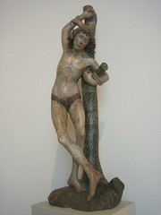 St Sebastian, 1480 (noriko.stardust) Tags: old sculpture berlin statue museum religious antique religion carving medieval christian passion christianity martyr bodemuseum stsebastian martyrdom