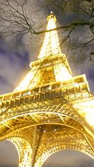 Golden Eiffel Tower (DRUPLES) Tags: paris tower night gold tour or eiffel nuit