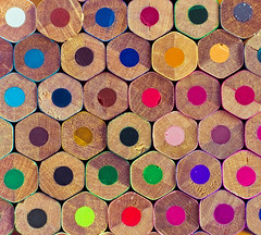 Wood Pile (Komatoes) Tags: wood pink blue red orange brown white black colour green pencils 50mm nikon colours purple drawing f14 g explore nikkor coloured afs 50mmf14 251 d40 nikond40