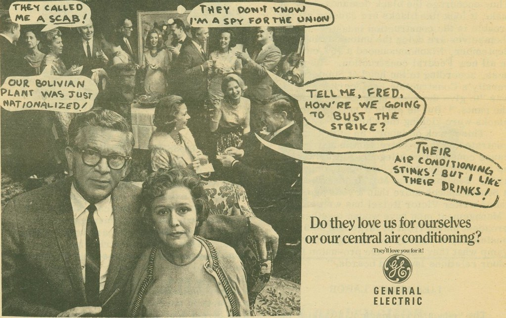 Spoof ad, printed in UAW Unity, (1973)