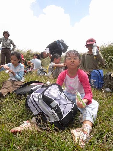 你拍攝的 59娃娃登上912公尺的磺嘴山。