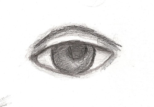 features study (eye) - graphite