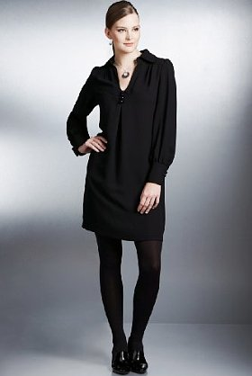 M&S black shirt dress