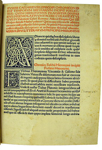 Large woodcut initials in Eusebius Caesariensis: Chronicon by University of Glasgow Library