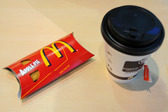 McDonalds Apple Pie and Boh Tea, Penang International Airport