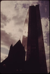 Copley Square at 9 a.m. John Hancock Building and Trinity Church 04/1973 (The U.S. National Archives) Tags: usnationalarchives environmentalprotectionagency documerica nara:arcid=550001 boston johnhancocktower hancockplace thehancock johnhancockbuilding clarendonstreet clarendonst 200clarendonstreet 200clarendonst impeipartners impeiandpartners impei brokenwindows plywood plywoodpalace plywoodranch