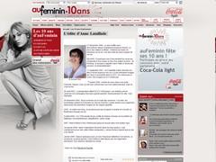 Edito pour les 10 ans d'Auféminin.com