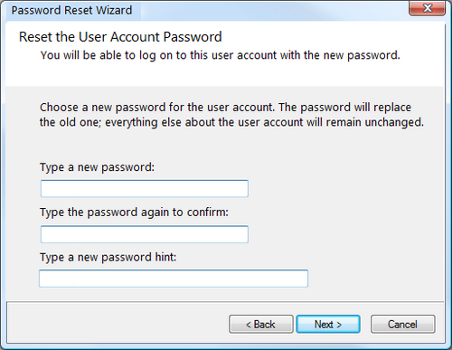 Vista Password Recovery