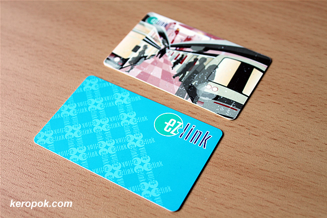 Old and New EZLink Cards