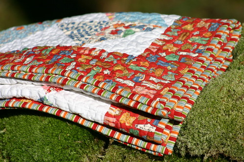 Folded Quilt in tree