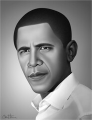 Barack Obama - Realistic Portrait - 3 - (Ben Heine) Tags: light portrait blackandwhite bw usa afghanistan black detail reflection art texture monochrome look smart lines print eyes war peace skin noiretblanc lumire whitehouse yeux digitalpainting congress future hopes change precision leader pace copyrights speech slogan wacom controversy sant peau socialsecurity realism regard paix nobelprize highres controversial barackobama institutions medicare politicalart moveonorg etatsunis medicaid uspresident discours scuritsociale yeswecan verenigdestaten benheine peinturenumrique usadministration congrsamricain realisticportrait ultrarealism obamacare rformedessoinsdesant infotheartisterycom