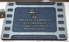 Photo of Alec Guinness film cell plaque