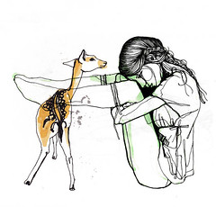bambi is back (pintaycolorea) Tags: illustration ink drawing remix silence bambi doubts pintaycolorea mixedtomuch