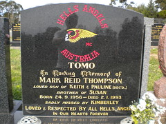 Hells Angel Grave (mikecogh) Tags: cemetery grave logo community centennialpark hellsangels bikie