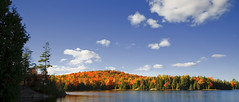Centre Lake, Haliburton Highlands (YYZDez) Tags: park autumn trees lake ontario canada fall leaves clouds landscape island fallcolors 5d canon5d haliburton coth haliburtonhighlands centrelake goldstaraward canonef1740f4llens afhht