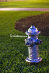 hydrant.kaleidoscope of color (simis) Tags: pink blue brown green grass hydrant lowlight shine graphic bokeh sidewalk fromarchives hbw ehbd