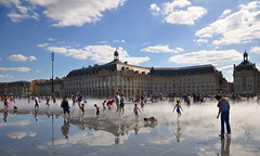 Bordeaux Place de la Bourse et miroir d'eau BB33fr (BB33FR) Tags: summer sky france reflection water clouds mirror nikon bordeaux unesco heat bourse reflexions soe cloudscapes aquitaine d90 watermirror 5photosaday fineartphotos mywinners miroirdeau flickraward worldtrekker nikonflickraward 5halloffame bb33fr bordeauxcub