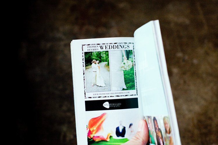 Image of SDP shoots Perfect Wedding Guide cover!