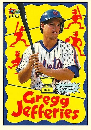 Baseball Card Bust Gregg Jefferies 1992 Topps Kids